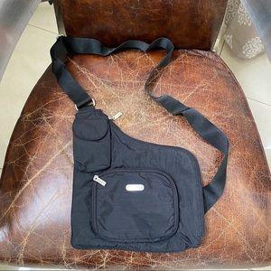 Baggallini black nylon crossbody bag